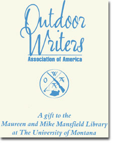 Gift Plate of the Outdoor Writers Association of America Collection
