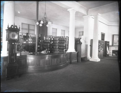 interior of old Mansfield Library
