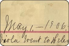 screenshot from diary entry of James Ball