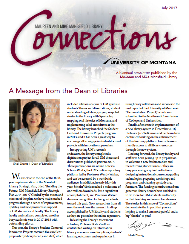 cover of Connections newsletter
