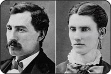 Portraits of a man and a woman.