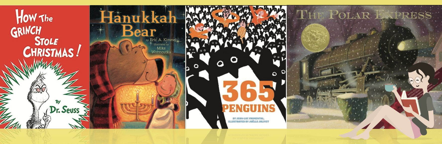 compilation of 4 holiday kid book covers