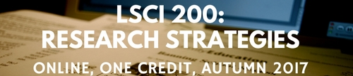 research strategies one credit fall 2017