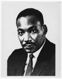 portrait black and white of Martin Luther King Jr.