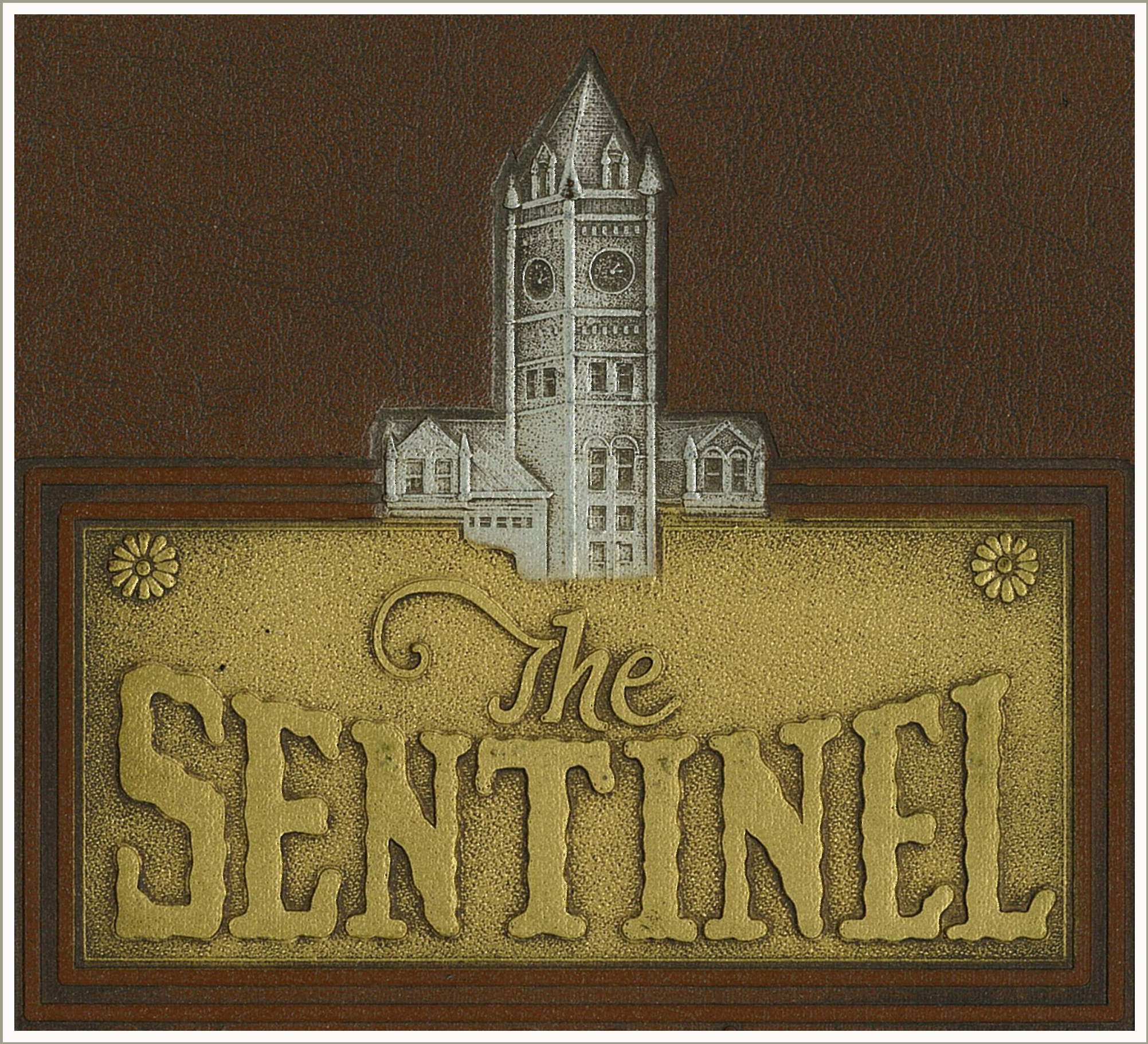 Sentinel logo etched in brass
